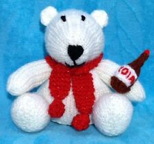 KNITTING PATTERN - Coca Cola inspired Polar Bear choc orange cover or 14 cms toy