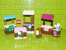 Lego Friends Market Stalls Scene 3x Stalls, Food Fire + More NEW
