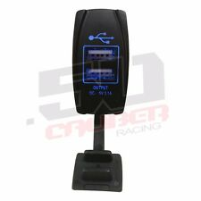 Dual Port USB Outlet 5V Mastercraft Crestliner Stingray Four Winns Moomba BLUE