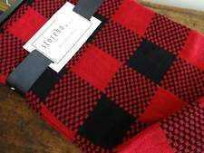 STOREHOUSE RED Black BUFFALO PLAID Lodge CABIN THROW BLANKET