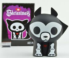 Skelanimals Series 3 GITD Vinyl 3-Inch Mini-Figure - Jax The Wolf