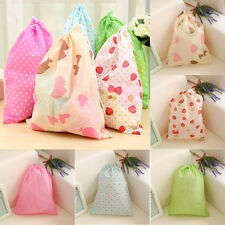 New Waterproof Laundry Shoe Travel Pouch Portable Tote Drawstring Storage Bag