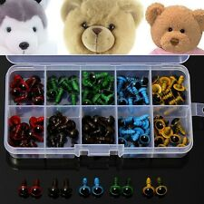 100pcs 8mm 5 Colors Washers Plastic Safety Eyes Teddy Bear Doll Puppets Toys Han