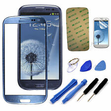 Blue Replacement Screen Glass Lens Kit For Samsung Galaxy S3 i9300 I747 T999