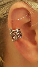 New UK Antique FILIGREE Flower Ear Cuff Helix Cartilage Earring Cuff Ornate