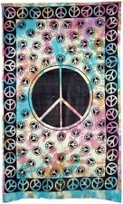 Peace Sign Light Bedspread: Tapestry, Wall Hanging, Altar Cloth 72 x 108 Hippy
