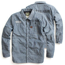 G-STAR RAW QUILTED RINSED DENIM OVERSHIRT SHIRT JACKET CHAMBRAY  SIZE M / Medium