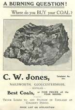 1907 Cw Jones Coal Supply Nailsworth Glos Ad