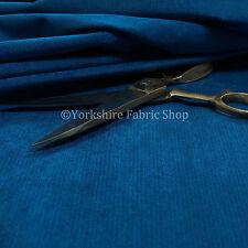 Chenille Suave Tapicería material de la decoración interior Mate En Tela Azul Cobalto