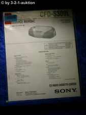 Sony Service Manual CFD S300L Cassette Recorder (#5088)