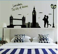 City Dream Lovers London Bridge Glow In The Dark Luminous Wall Stickers Decals