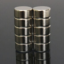 10Pcs Strong Rare Earth Round Cylinder Neodymium Fridge Magnet 10x5mm N52