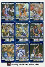 2005 AFL Teamcoach Blue Platinum Trading Card Team Set Nth Melbourne (9)