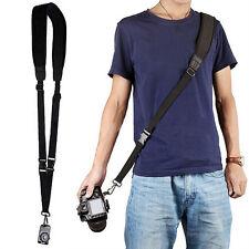 Schwarz Quick Rapid Shoulder Sling Belt Strap Für DSLR SLR Canon Nikon Kamera DE