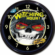 The Witching Hour Horror Wall Clock DC Comics Witch Skull Skeleton Ghost New 10""