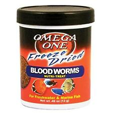 Omega One Freeze Dried Blood Worms, .46 oz., New, Free Shipping