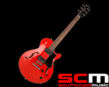 RRP$3599 GODIN MONTREAL PREMIERE TRANS RED HOLLOWBODY ELECTRIC GUITAR WITH BIG