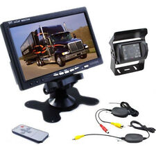 "7"" Car Monitor+Night Vision Waterproof Anti-fog Wireless Backup Camera System"