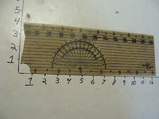 vintage plastic RECMAR PRODUCTS RULER W/ COMPUS as found