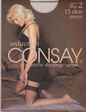 CONSAY BAS STRETCH ECRU - FINS 15 DEN 100 % NYLON STOCKINGS T. 2 SMALL