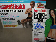 Women's Health FITNESS BALL 65cm Kin + TRAINING GUIDE 2013 Nutrition Flat Belly