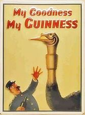 Guinness Ostrich large embossed steel wall sign (hi 4030)