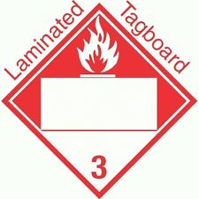 Blank Window Combustible Class 3 Laminated Tagboard Placard (PACK OF 50)