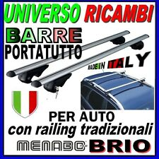 Barre Portatutto Menabo BRIO XL  FIAT DOBLO MALIBU con  Barre longitudinali