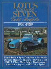 LOTUS CATERHAM WESTFIELD DSK DONKERVOORT SEVEN 7 1957-89 PERIOD ROAD TESTS BOOK