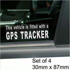 4 x GPS Tracker Fitted Warning Alarm Stickers-Vehicle,Car,Van,Taxi Cab Security