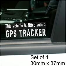 4 X Gps Tracker ajustada Alarma de advertencia stickers-vehicle, Auto, Camioneta, Taxi Cab Seguridad