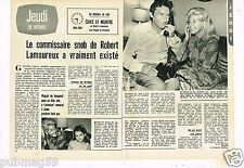 Coupure de Presse Clipping 1971 (2 pages) Robert lamoureux