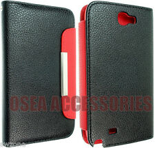 FOR SAMSUNG GALAXY NOTE II 2 N7100 LEATHER CASE COVER WALLET FLIP POUCH BACK FIT