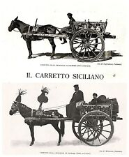 CARRO CARRETTO SICILIANO MONREALE CATANIA PALERMO TRADIZIONE DECORAZIONI 1926