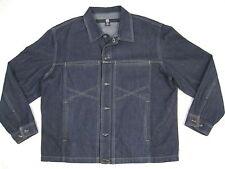Marithe Girbaud Mens Dark Wash Denim Button Up Jean Jacket Size XL