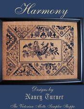 QUAKER Harmony sampler counted cross stitch chart
