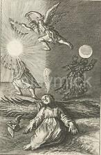 "A Child Dreams of The Passing of Time Boetius Adamsz Bolswert 17thC 7x5"" Reprint"