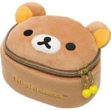 Authentic San-X Rilakkuma Stuffed Large Cosmetic Make Up Pouch Japan Edition