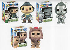 "Funko WIZARD OF OZ 3PC 3.75"" POP SET RETIRED TIN MAN  SCARECROW & LION"