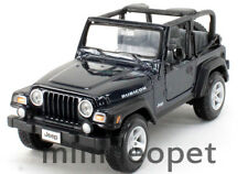 MAISTO 31245 JEEP WRANGLER RUBICON 1/27 DIECAST MODEL CAR DARK BLUE