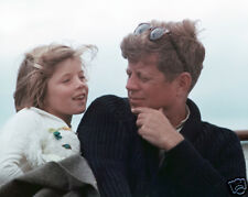 President John F. Kennedy and daugther Caroline August 1963 New 8x10 Photo