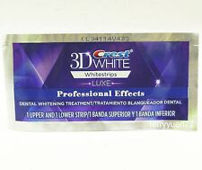 Crest 3D White Luxe Whitestrips Professional Whitening Effects 1 pouch 2 strips