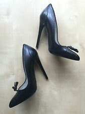 Tom Ford Brogue Stiletto Heels in Black Leather, IT38 /US7 - BNIB