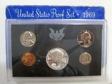 1969 UNITED STATES PROOF SET SAN FRANCISCO MINT 5 COINS COLLECTION