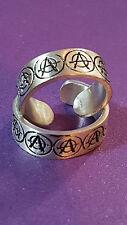 NUOVO Toe Ring ANARCHIA (a) simbolo forte ARGENTO PELTRO 16mm Bohemien Etnico Ragazze