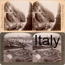 18 STEREOFOTOS ITALIEN ITALY ROM VENICE NAPLES FLORENZ Lot 5