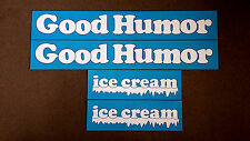 GOOD HUMOR Ice Cream Truck Top Panel Decals / Stickers