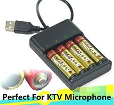 4 x 1.5V AA 2800mWh rechargeable lithium wireless microphone battery + charger
