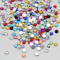 1000 Colorful Crystal Flat Back Rhinestone Gem Diamante Bead Nail Art Craft 3mm
