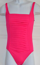 NWT Calvin Klein Swim Pleated Front One-Piece Swimsuit Sz 8 Rose